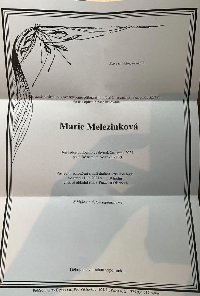 Parte Marie Melezinkové